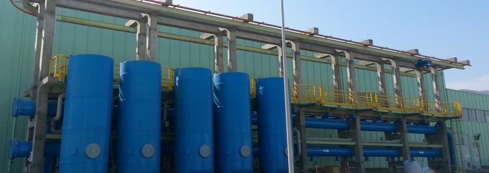 Depósitos para lechos de calcita DrinTec™ en PRFV