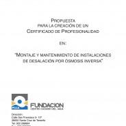 Propuesta de Certificado de Profesionalidad