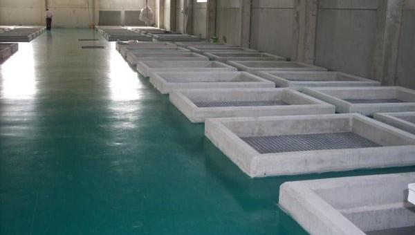 Limestone contactors in rectangular concrete cells